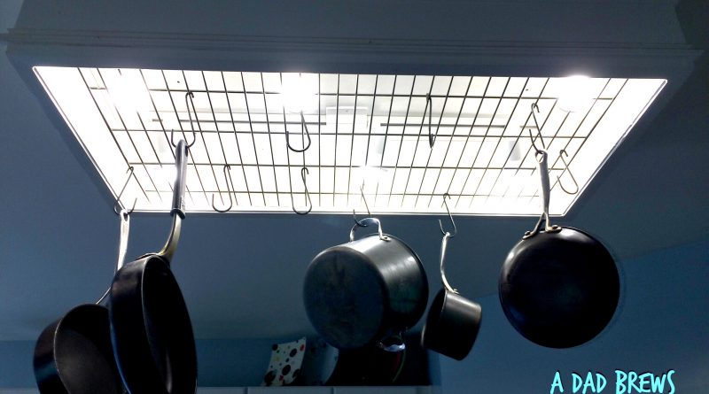 DIY Kitchen Pot Rack