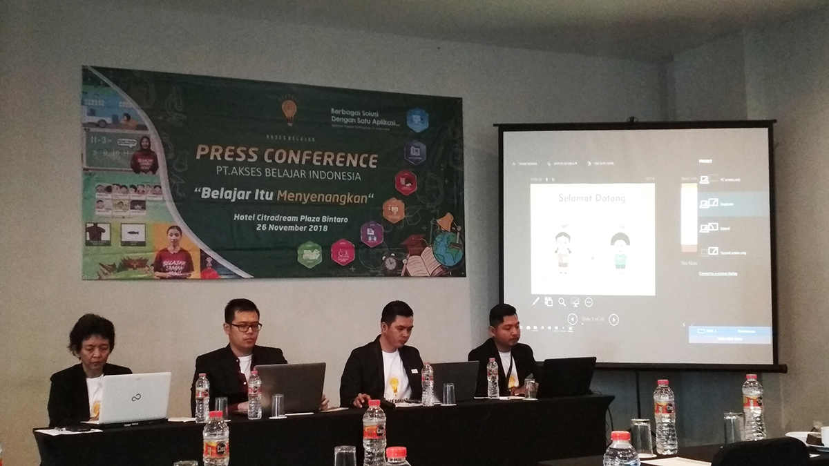 press conference akses belajar indonesia media pembelajaran interaktif dan kreatif