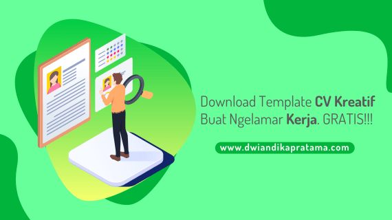 Download Template CV Kreatif Gratis