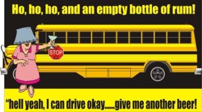 Drunk school bus driver