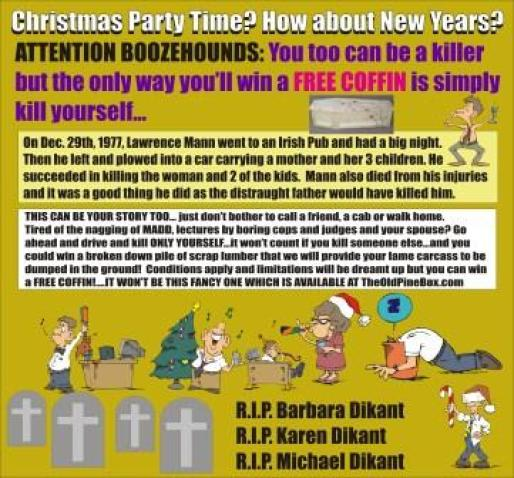 Christmas Free Coffin Mom and two kids dead