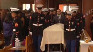 Marine Lance Cpl Silva funeral Courtesy KGO San Francisco