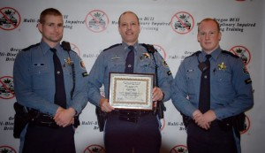 Tillamook patrol troopers of the Oregon State Police, top DUI officers of 2013