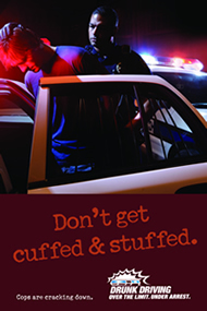 Don't get cuffed and stuffed. Call a cab.