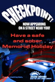 DUI checkpoint Memorial Day