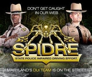 Maryland: State Police SPIDRE team arrested 2,684 DUI drivers since May of 2013