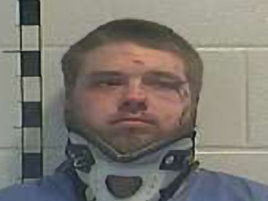 Justin Cottrell DUI drove into house domestic Shelby County jail 121514