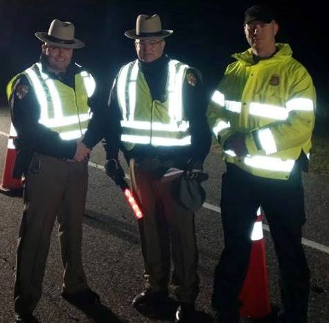 Maryland State Police Easton Barrack DUI sobriety checkpoint Dec. 1, 2014.