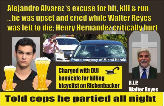 Alejandro Alvarez DUI killer of Walter Reye Miam 012115