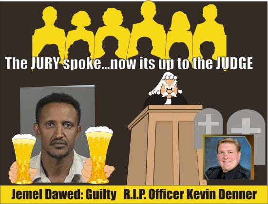 Jemel Dawed guilty of DUI death of Officer Kevin Denner