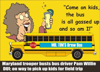 Maryland trooper busts Pam Willie for DUI with school bus