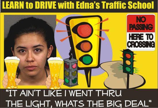 Edna Gonzalez Riverside County Calif DUI arrest crash into traffic light 062915