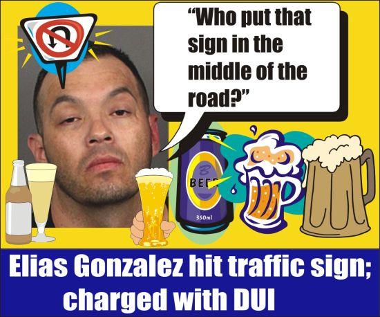Elias Gonzalez DUI crash in La Quinta Calif