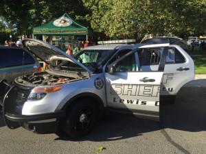 Lewis County Washington Sheriff Patrol car