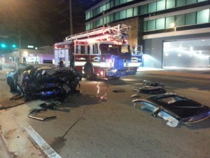 Ervens Prudent was well over the limit 3 hours after this fatal crash in 2013. Photo Miami CBS