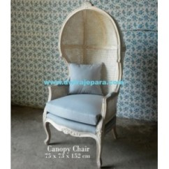 French Canopy Chair Louis 16th Painted Furniture Of Livingroom