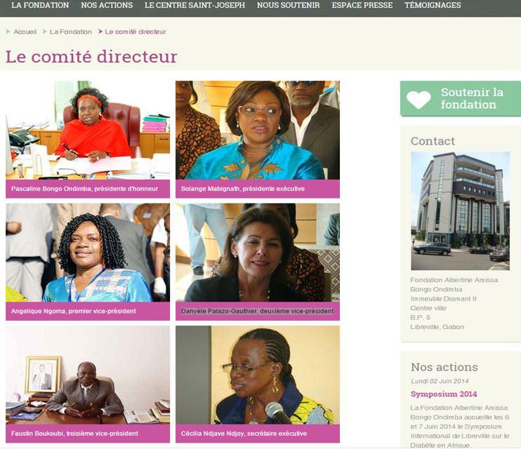 Danyèle Palazo-Gauthier-deuxième vice président  de la fondation Albertine Amissa Bongo Ondimba