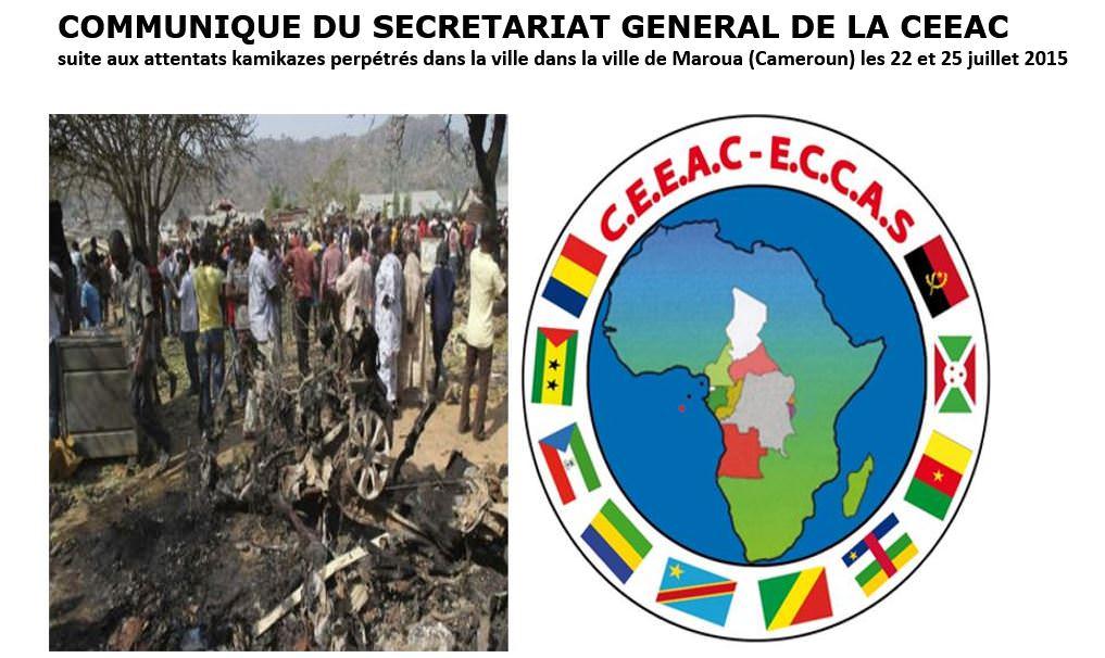 COMMUNIQUE DU SECRETARIAT GENERAL DE LA CEEAC-le 26 juillet 2015