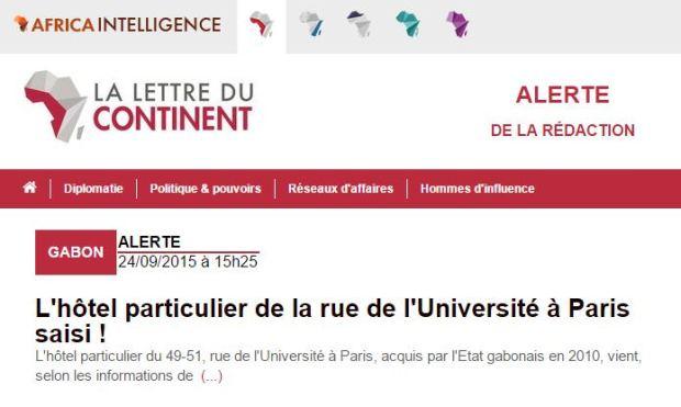 L'hôtel particulier de la rue de l'Université à Paris saisi !