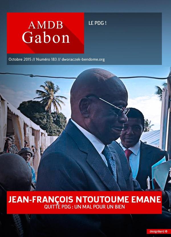Gabon- Jean-François Ntoutoume Emane quitte le PDG-Un mal pour un bien