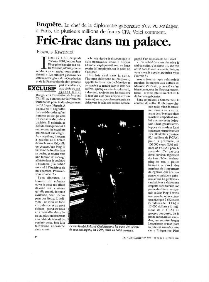 Jean Ping- revu de presse et retour sur le passé-02