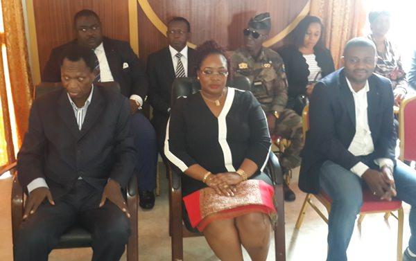 """De gauche vers la droite René Ndemezo""""o Obiang et Estelle Ondo, ministre du gouvernement d'Ali Bongo @"""