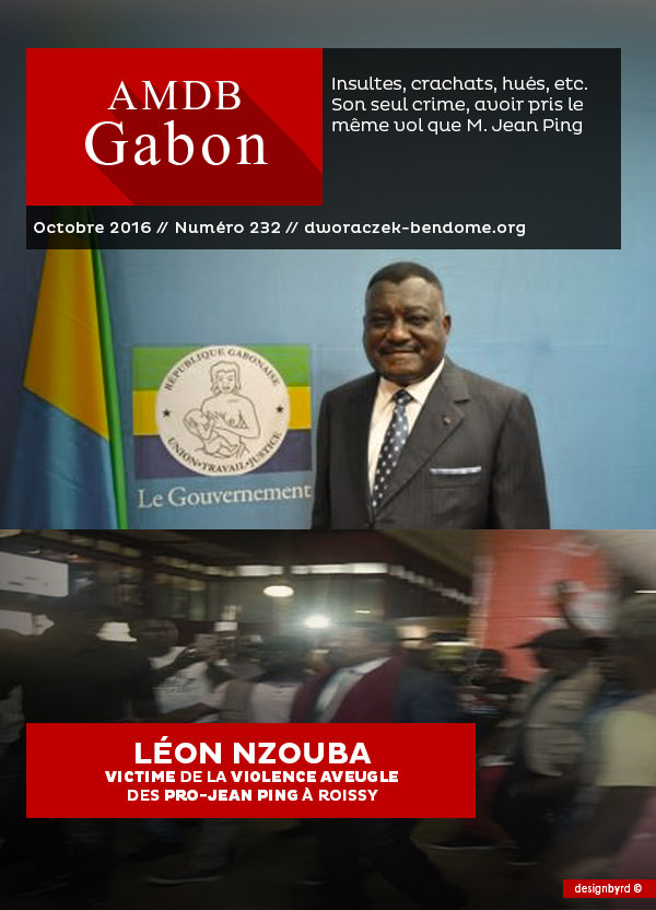 Léon Nzouba victime de la violence aveugle des pro-Jean PING à Roissy