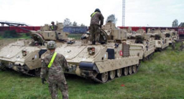 Les chars US de retour en Europe pour contrer l'«impérieuse Russie» © AFP 2016 PETRAS MALUKAS