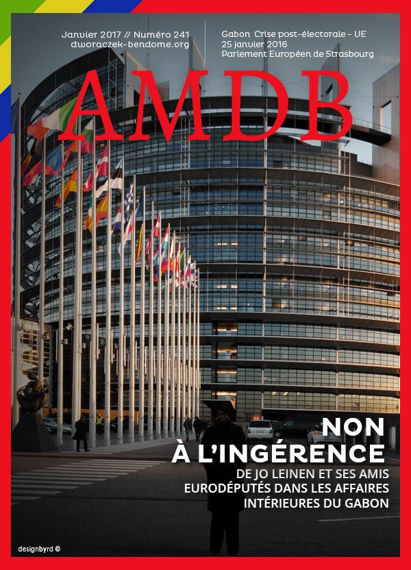 AM DWORACZEK-BENDOME-25 JANVIER 2017-DEVANT LE PARLEMENT EUROPEEN- STRANSBOURG-FRANCE
