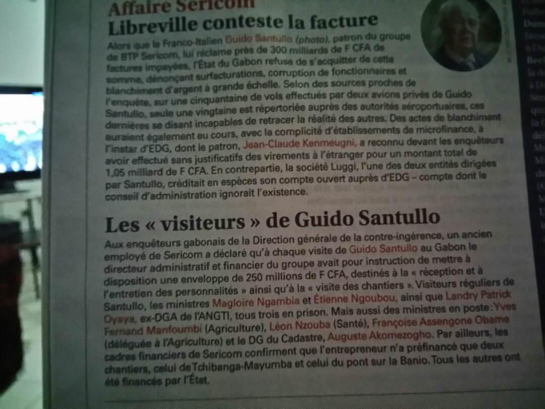 Article du journal Panafrician Jeune Afrique