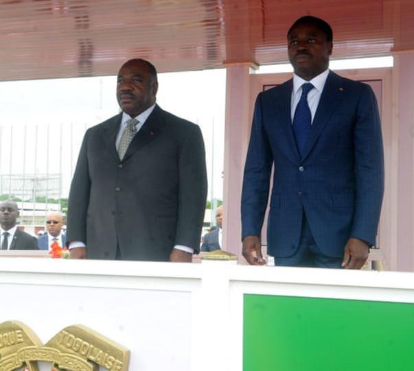 Diplomatie-Les présidents Ali Bongo Ondimba du Gabon et Faure Gnassingbé du Togo.