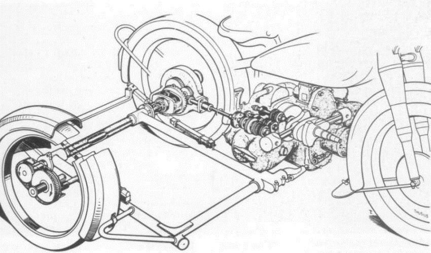 Motocykl schweres Kraftrad 750 cm3 mit Seitenwagen