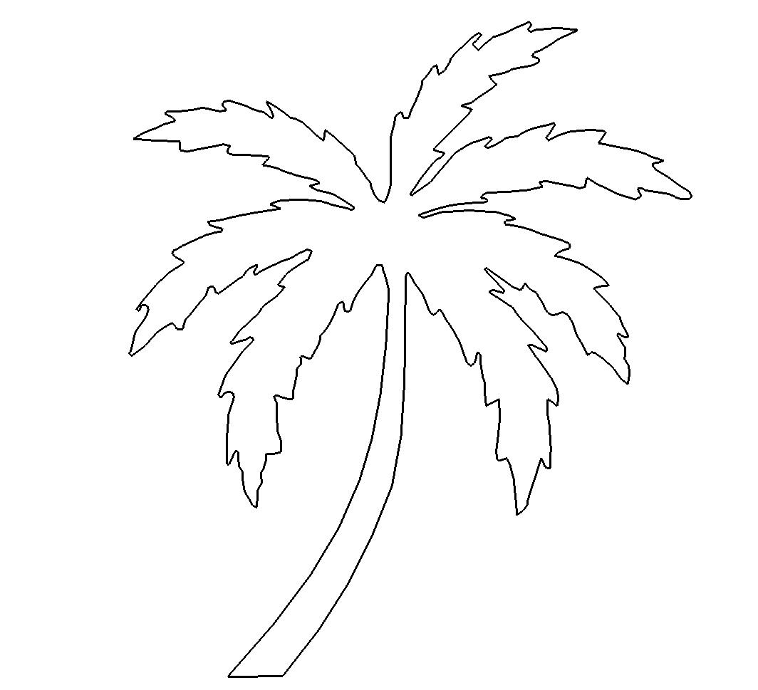 Einfache Palme - simple palm - Das Download Portal für dxf