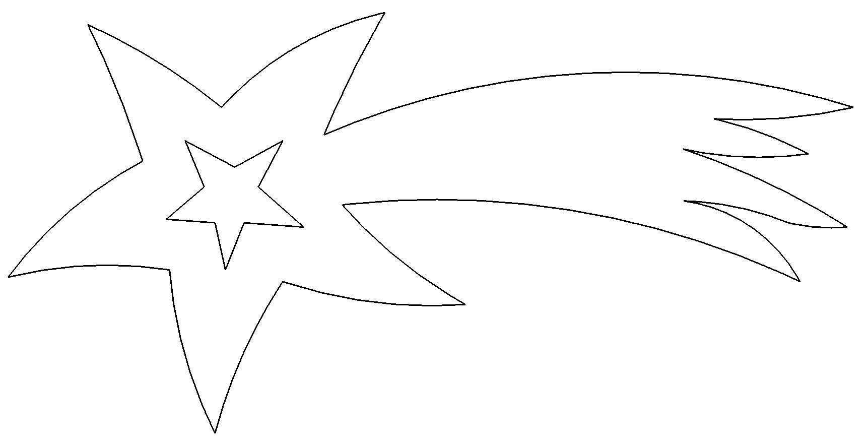 Sternschnuppe Vorlage Zum Ausschneiden
