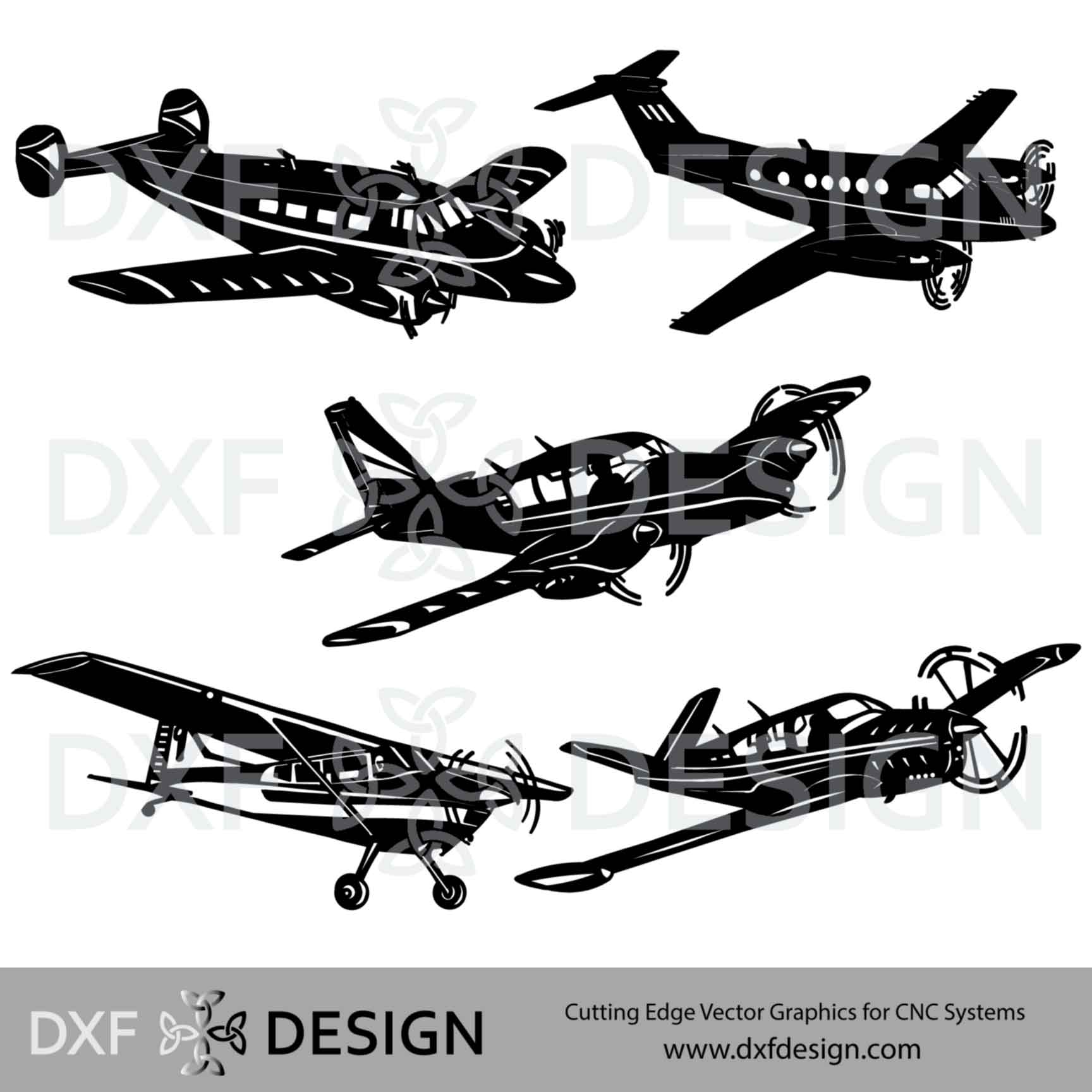 Airplane Collection DXF file for CNC Plasma cutting