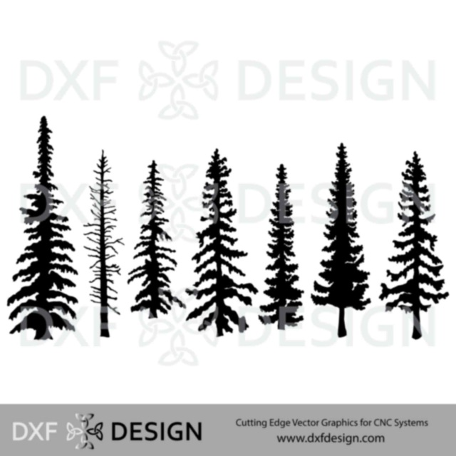 Tree Collection 1 DXF file, CNC Plasma cutting