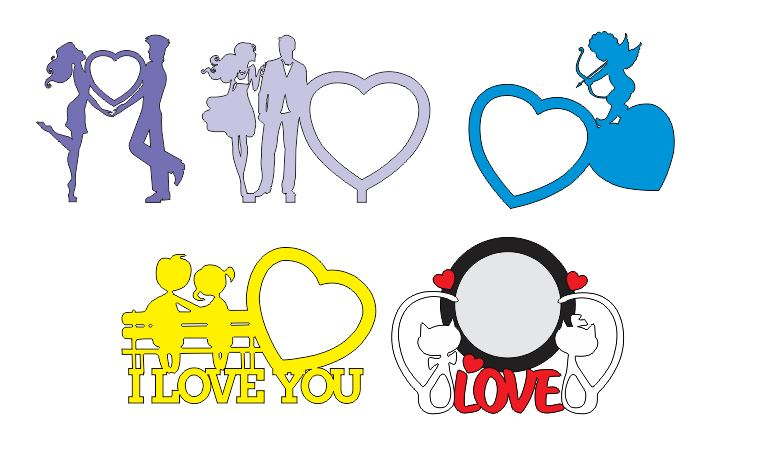Download Free pack i love you CDR DXF Vectors Cut Cnc Machines ...