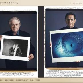 Fotógrafos posam com suas fotografias mais famosas