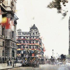 Peace Day - Londres, 19 de Julho de 1919, em cores