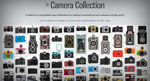 the-camera-collection-em-pixel-art
