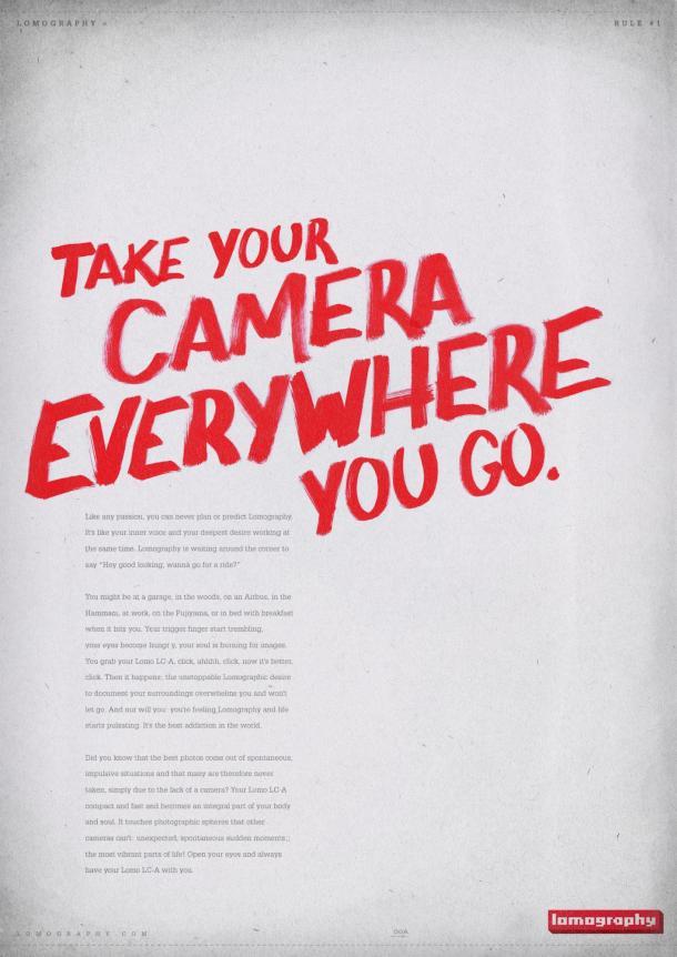 As 10 regras da lomografia em pôsteres caligráficos - DXFoto