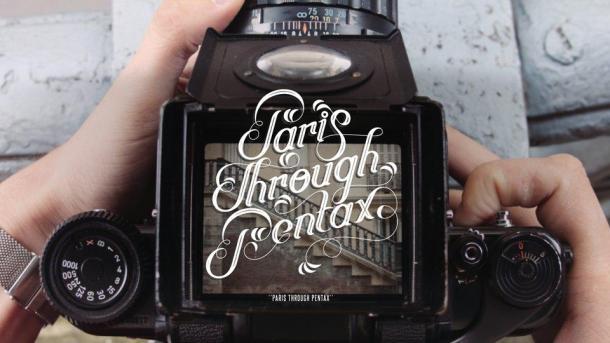 Through the viewfinder por Paris com uma pentax 67