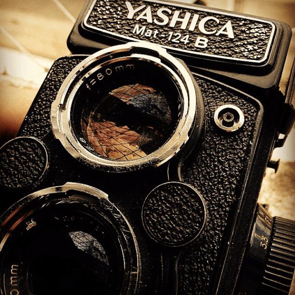 No #instagram, test drive da Yashica Mat - via Instagram