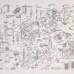 Nikon F3 - Manual e pôster diagrama de peças