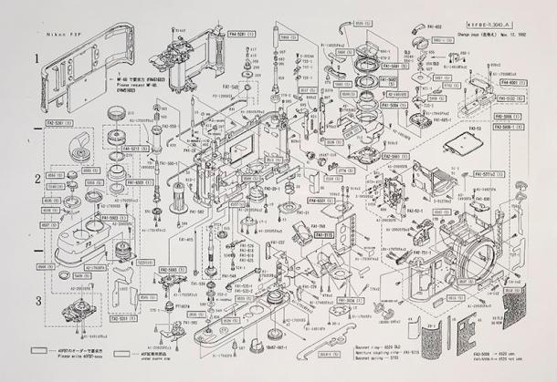Nikon F3 - Diagrama de peças