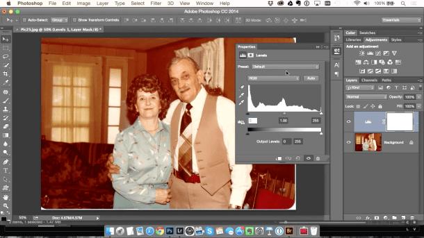 Tutorial para corrigir fotos antigas com Níveis no Photoshop - DXFoto