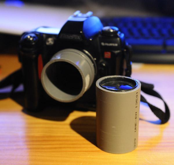Lente fotográfica construída com cano de PVC e lupa - DXFoto 04