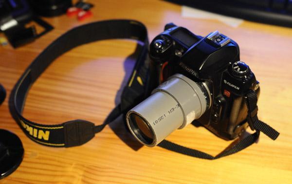 Lente fotográfica construída com cano de PVC e lupa - DXFoto 05