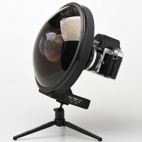 Nikkor 6mm f/2.8 fisheye raríssima em vídeo ostentação
