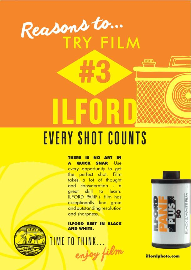 Pôsteres Reasons to try film da Ilford Photo 3